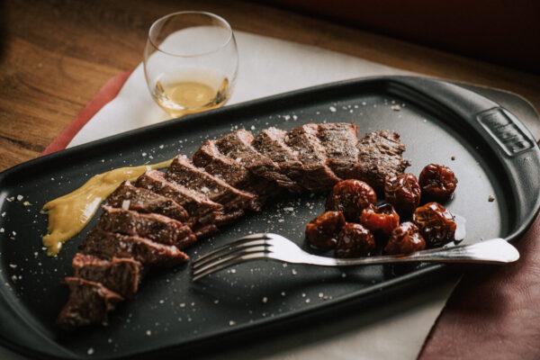carne alla griglia bavetta di black angus ristorante PitBeef Milano